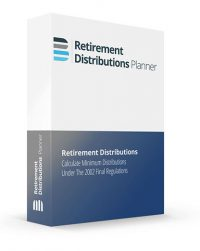 Retirement Distributions Planner