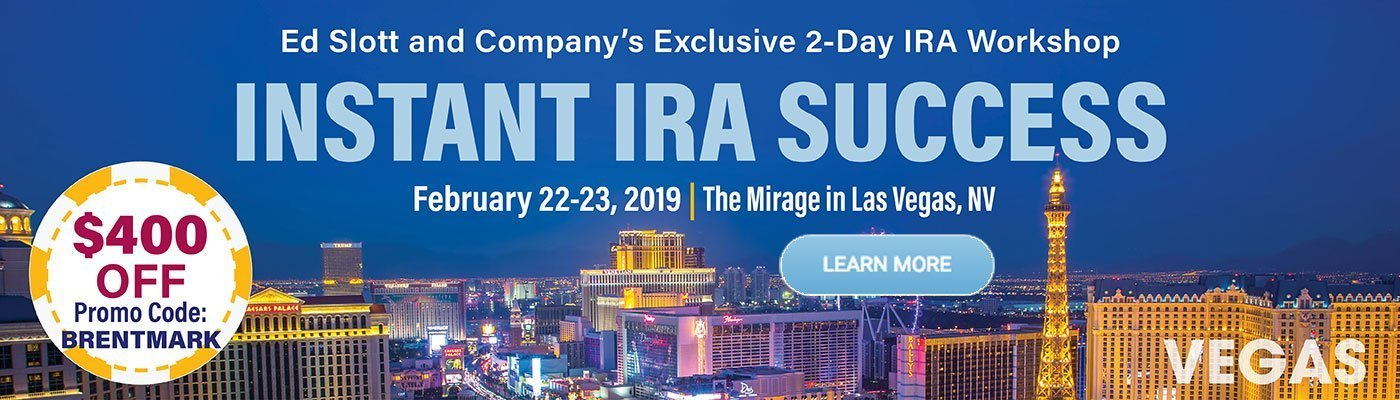 Discount for Ed Slotts Instant IRA Success Conference in Vegas