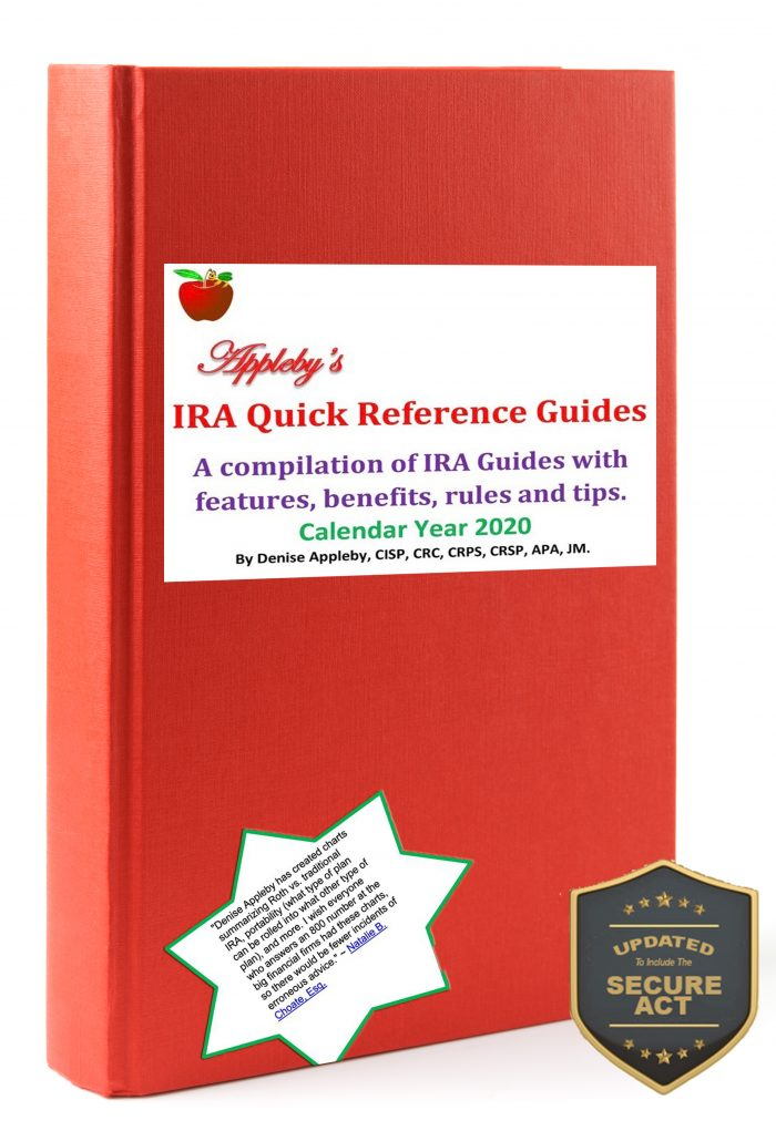 Appleby's IRA Quick Reference 2020 with Secure Act.