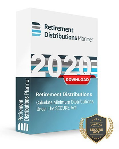 Retirement Distributions Planner 2020