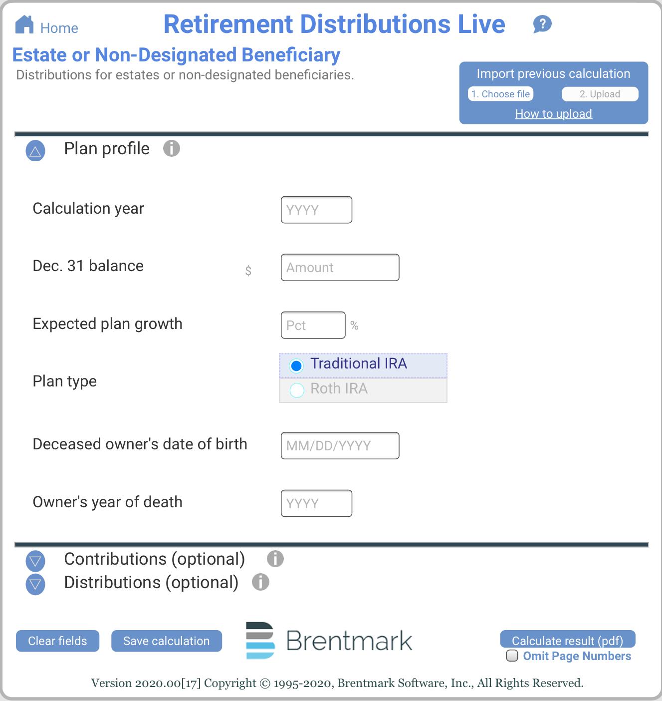 Estate or Non-Designated Beneficiary