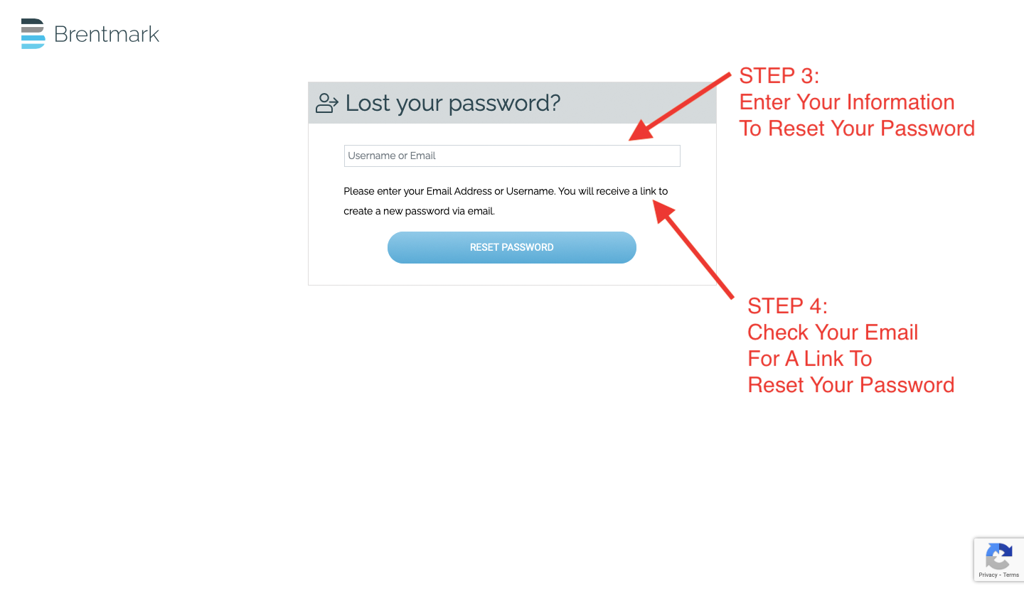 Lost Password Step 3 and 4
