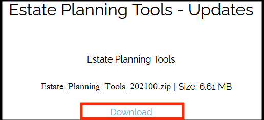 Estate Planning Tools Download Button
