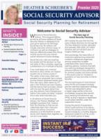 Heather Schreiber's Social Security Advisor Newsletter